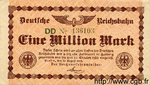 1 Million Mark ALLEMAGNE  1923 PS.1011 TTB