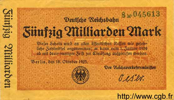 50 Milliarden Mark ALLEMAGNE  1923 PS.1023 SUP