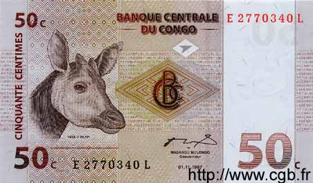 50 Centimes CONGO  1997 P.84a NEUF