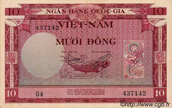 10 Dong VIET NAM SUD  1955 P.003a SUP