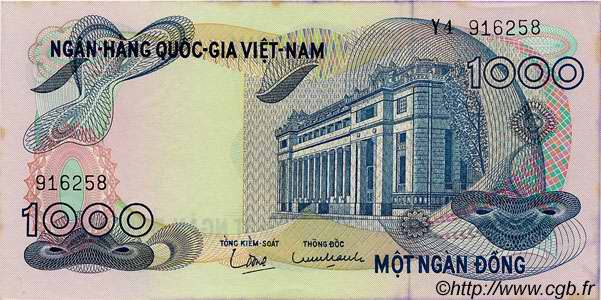 1000 Dong VIET NAM SUD  1971 P.29a SUP