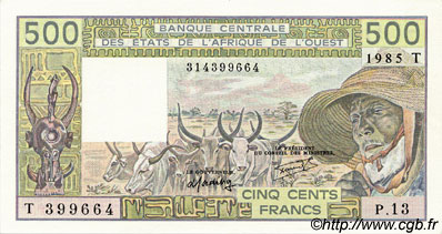 500 Francs type 1980 TOGO  1985 P.806Th