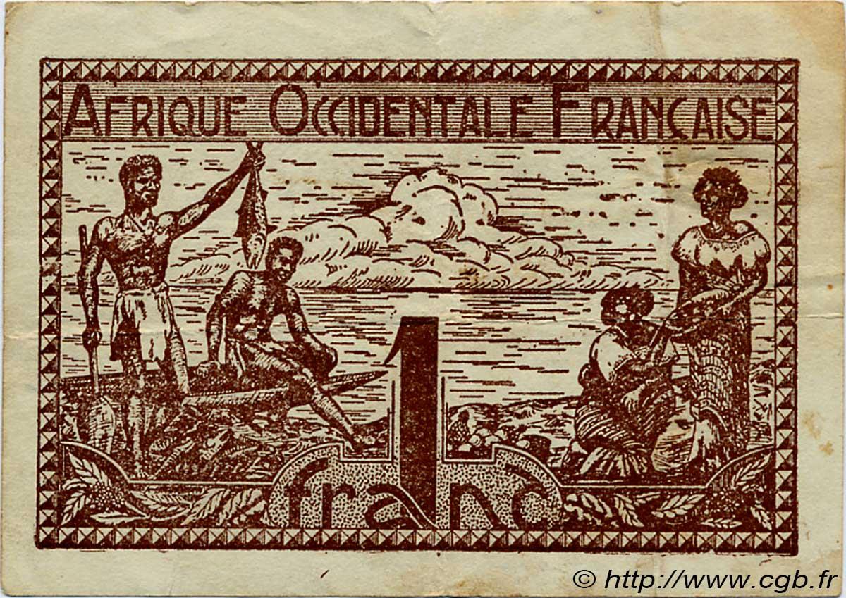 1 Franc AFRIQUE OCCIDENTALE FRANÇAISE (1895-1958)  1944 P.34