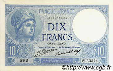 10 Francs MINERVE FRANCE  1932 F.06.16 SUP+