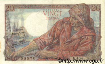 20 Francs PÊCHEUR FRANCE  1947 F.13.11 SUP