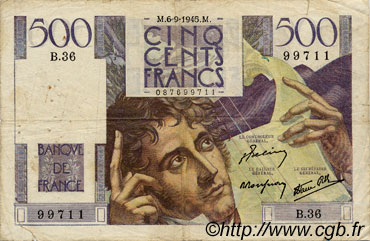 500 Francs CHATEAUBRIAND FRANCE  1945 F.34 B