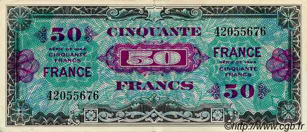 50 Francs FRANCE FRANCE  1944 VF.24.01 SUP
