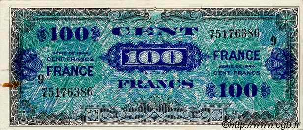100 Francs FRANCE FRANCE  1944 VF.25.09 SUP