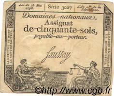 50 Sols FRANCE  1793 Laf.167 SUP