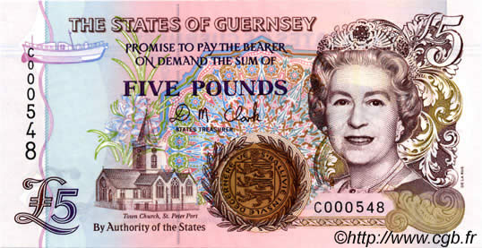 5 Pounds GUERNESEY  1996 P.56b NEUF