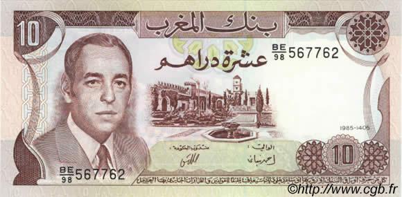 10 dirhams maroc 1985 b38 1063 billets. Black Bedroom Furniture Sets. Home Design Ideas