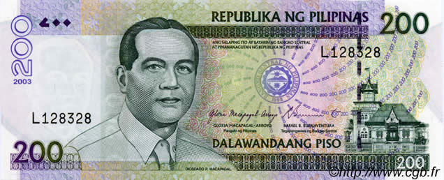 200 Piso PHILIPPINES  2003 P.195a NEUF