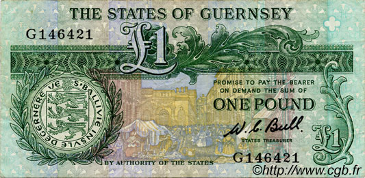 1 Pound GUERNESEY  1980 P.48a TTB