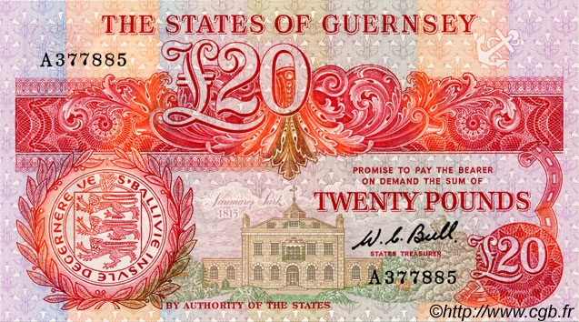 20 Pounds GUERNESEY  1980 P.51a NEUF
