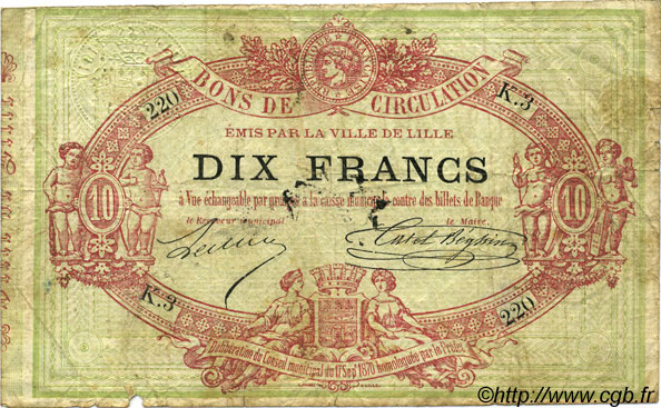 10 Francs FRANCE régionalisme et divers  1870 BPM.069.38 B