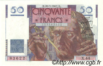 50 Francs LE VERRIER FRANCE  1947 F.20.07 NEUF