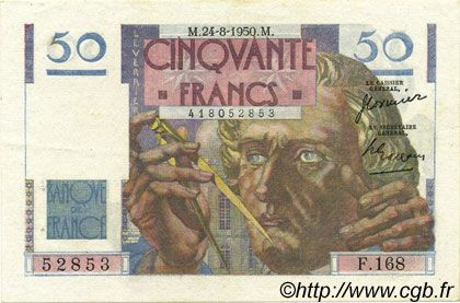 50 Francs LE VERRIER FRANCE  1950 F.20.16 SUP