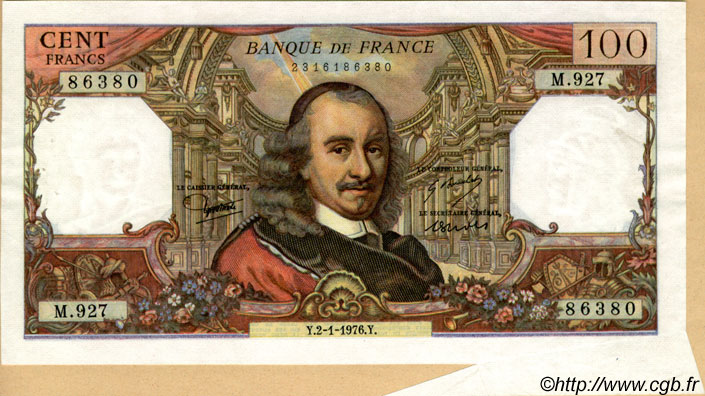100 Francs CORNEILLE FRANCE  1976 F.65.51 SUP