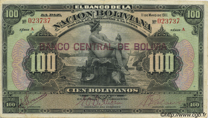 100 Bolivianos BOLIVIE  1929 P.117 SUP