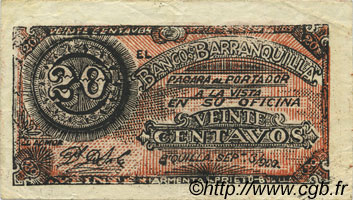 20 Centavos COLOMBIE  1900 PS.0242 SUP