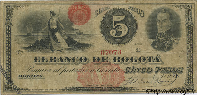 5 Pesos COLOMBIE  1900 PS.0627 TB
