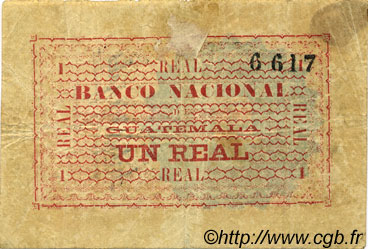 1 Real GUATEMALA  1874 PS.166 TTB