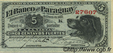 5 Centavos PARAGUAY  1882 PS.121 SUP+