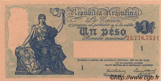 1 Peso ARGENTINE  1935 P.251a NEUF