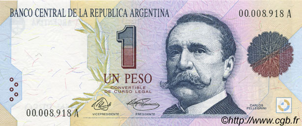 1 Peso ARGENTINE  1992 P.339a NEUF