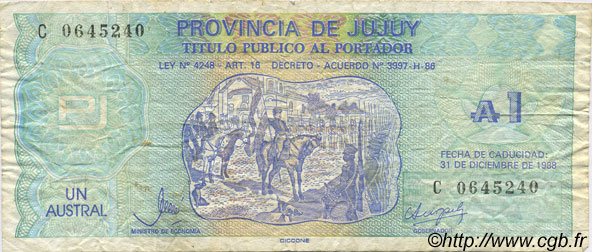 1 Austral ARGENTINE  1986 PS.2403 TB