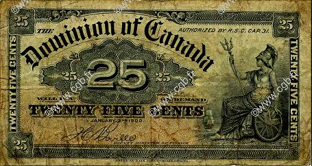 25 Cents CANADA  1900 P.009b B+
