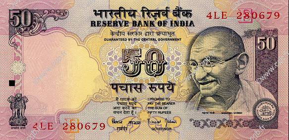 50 Rupees INDE  1997 P.090f NEUF