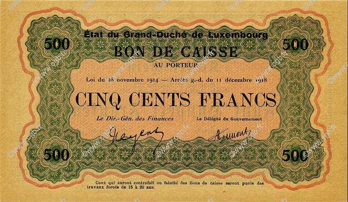 500 Francs LUXEMBOURG  1919 P.33a pr.NEUF