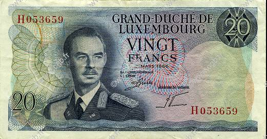 20 Francs LUXEMBOURG  1966 P.54a TTB