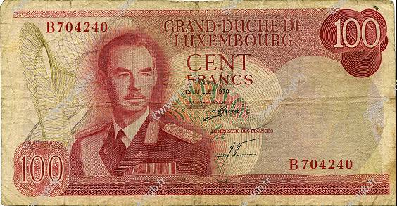 100 Francs LUXEMBOURG  1970 P.56a pr.TB