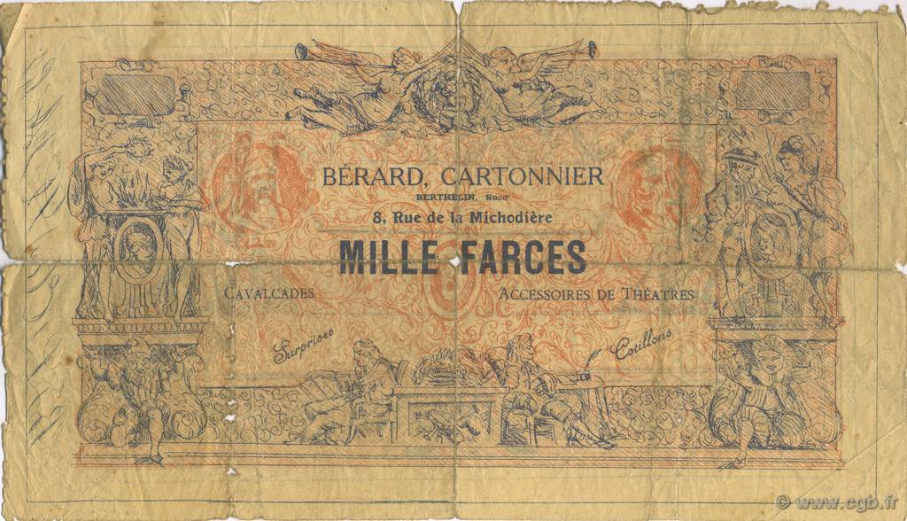 1000 Farces FRANCE régionalisme et divers  1900  B+