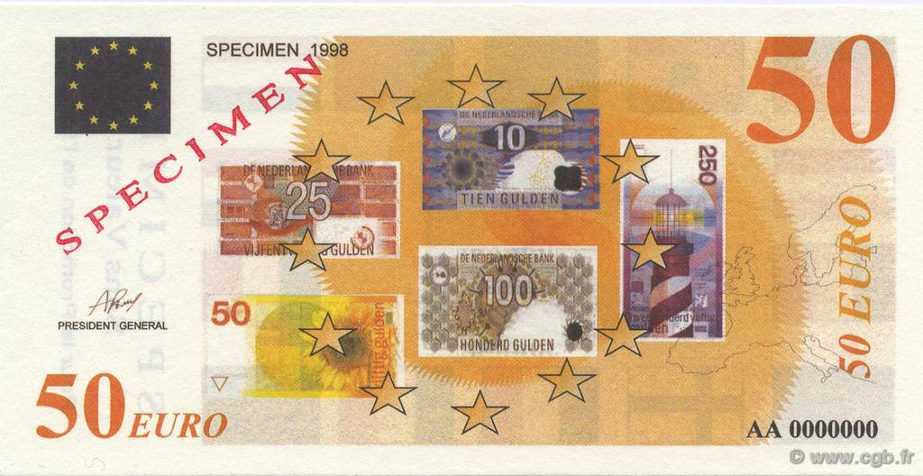 50 Euro Spécimen FRANCE regionalism and miscellaneous  1998  UNC