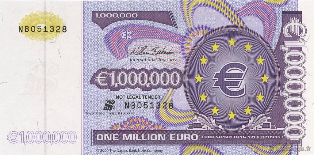 1000000 euro europe 2000 b50 0436 billets. Black Bedroom Furniture Sets. Home Design Ideas