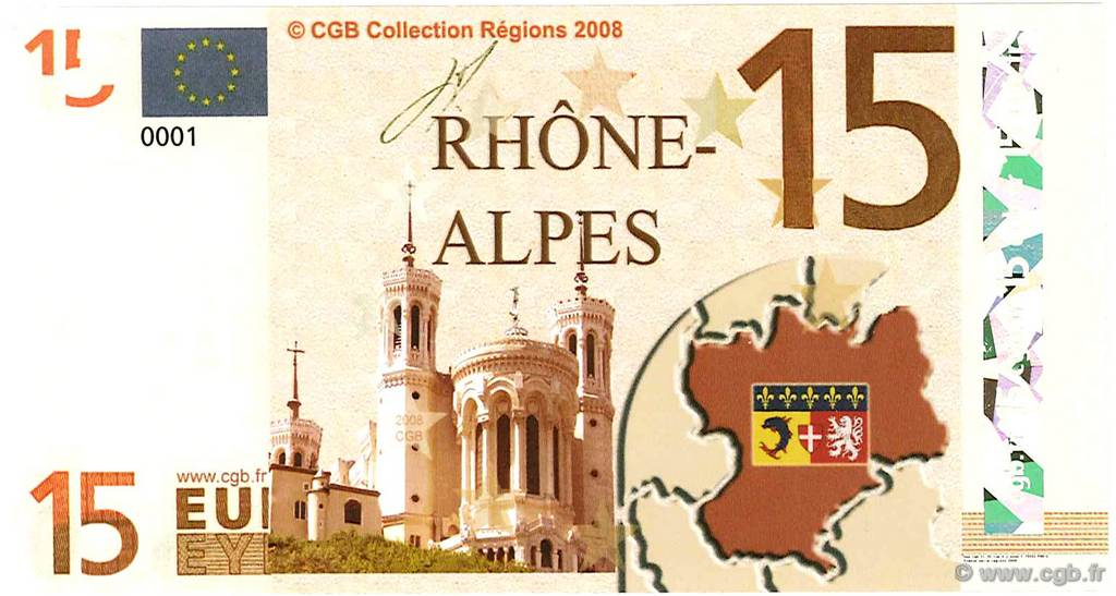 15 Euro  FRANCE regionalism and miscellaneous  2008  UNC