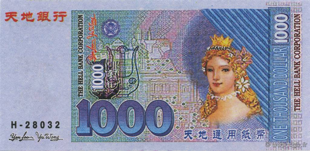 1000 Dollars CHINE  2000  NEUF