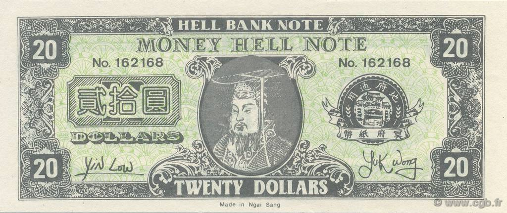 20 Dollars CHINE  1990  NEUF