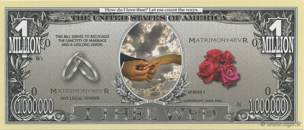 1000000 Dollars  UNITED STATES OF AMERICA  2004  UNC