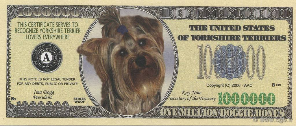 1000000 Dollars  UNITED STATES OF AMERICA  2006  UNC