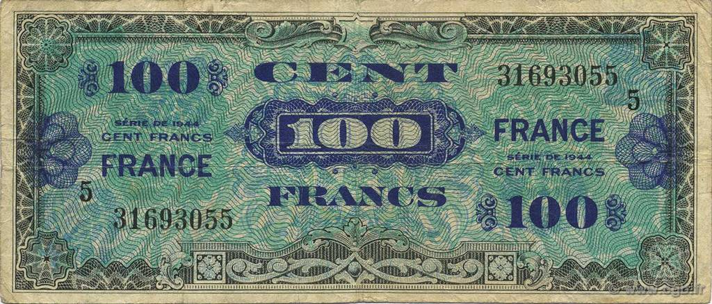 100 Francs  FRANCE  1945 VF.25.05 pr.TTB
