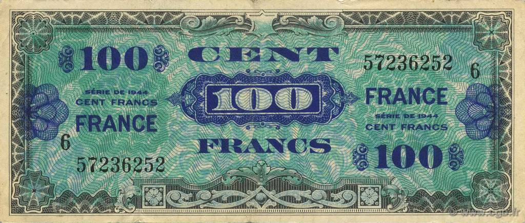 100 Francs FRANCE  1945 VF.25.06 pr.SUP