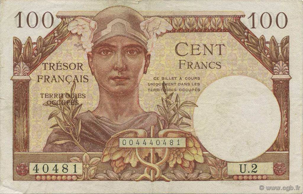 100 Francs FRANCE  1947 VF.32.01 SUP