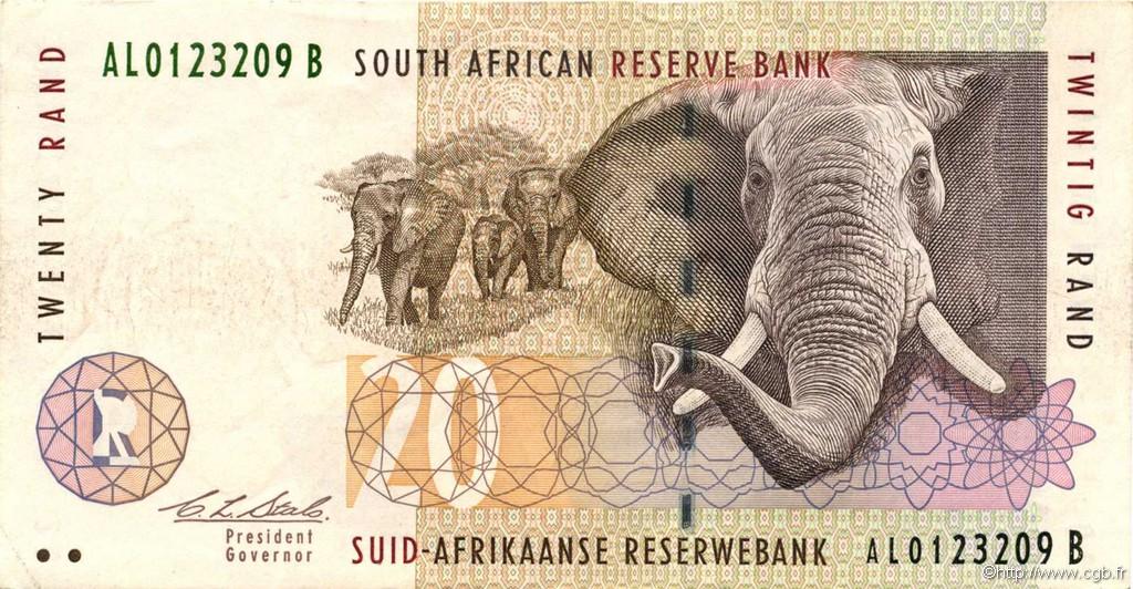 20 rand afrique du sud 1993 p 124a b52 0069 billets