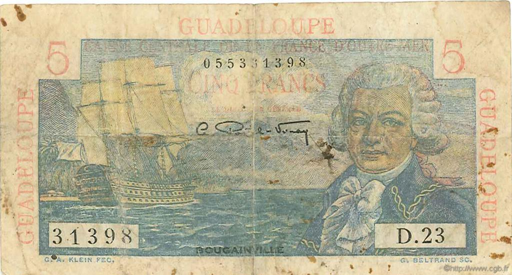 5 Francs Bougainville GUADELOUPE  1946 P.31 B