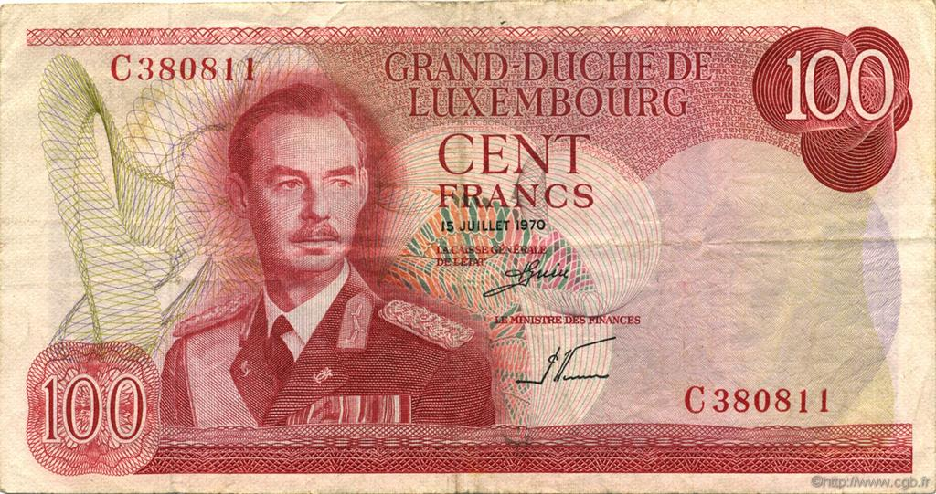 100 Francs LUXEMBOURG  1970 P.56a TTB