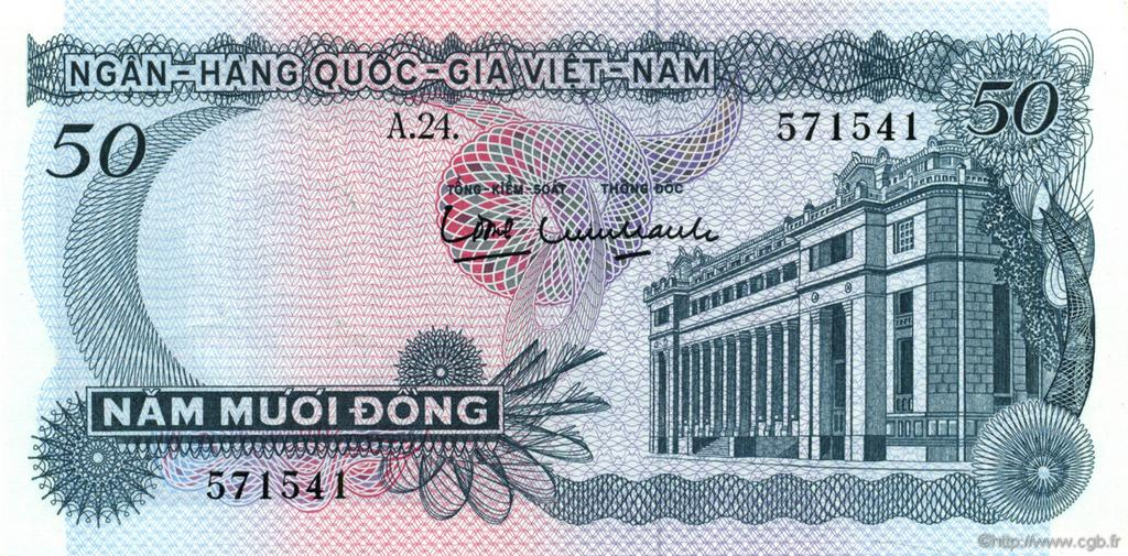 50 Dong VIET NAM SUD  1969 P.25a SUP+